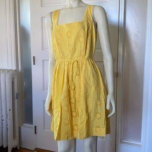 dELiA*s yellow summer sun cotton eyelet sundress